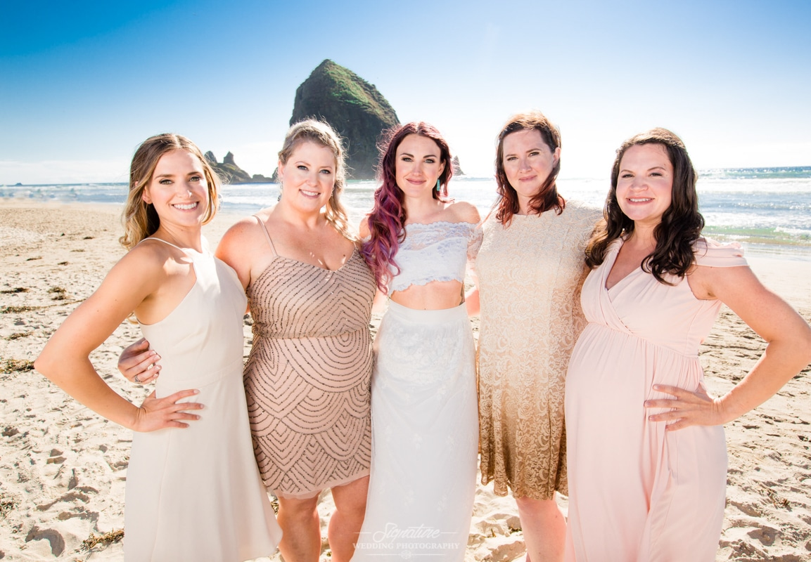 Oregon beach wedding photos