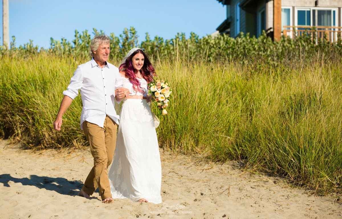 Oregon Coast Wedding Venues Ceremony Walk