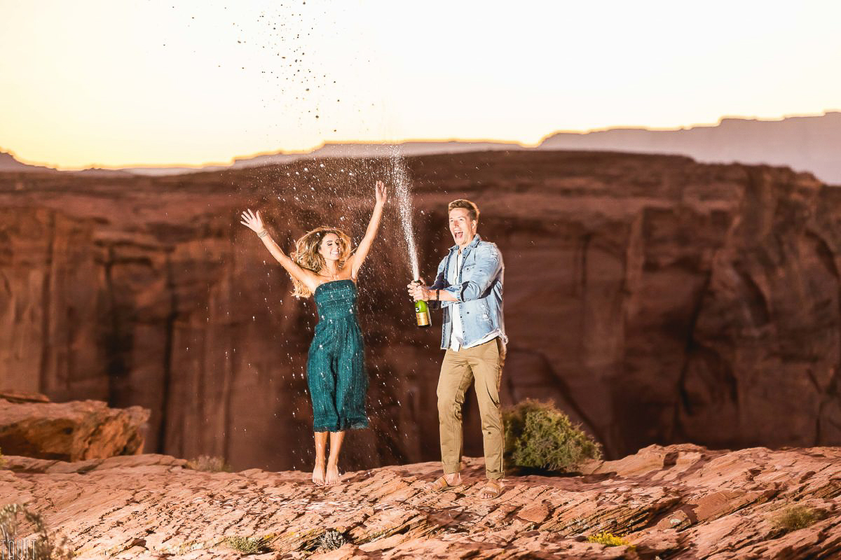 Engagement Photography Sedona Champagne