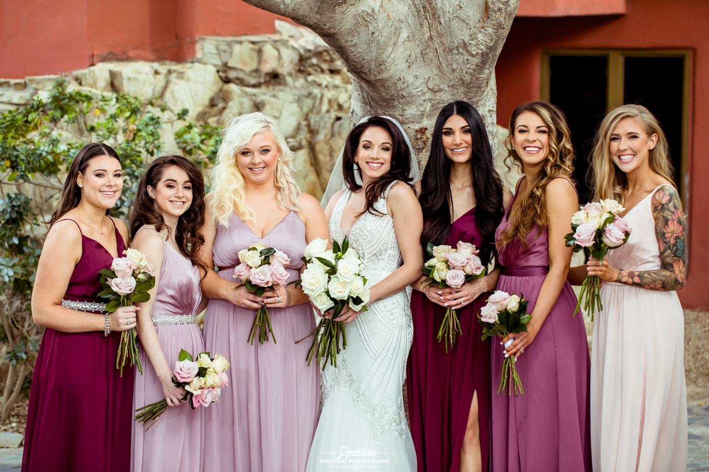 bride and bridesmaid photography 10