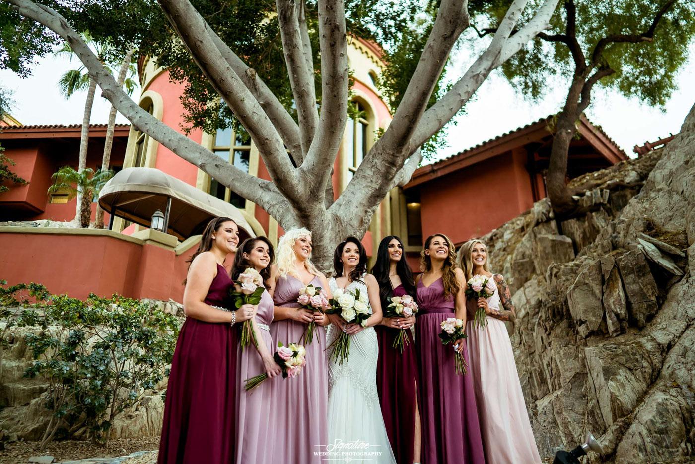 bride and bridesmaid photography 11