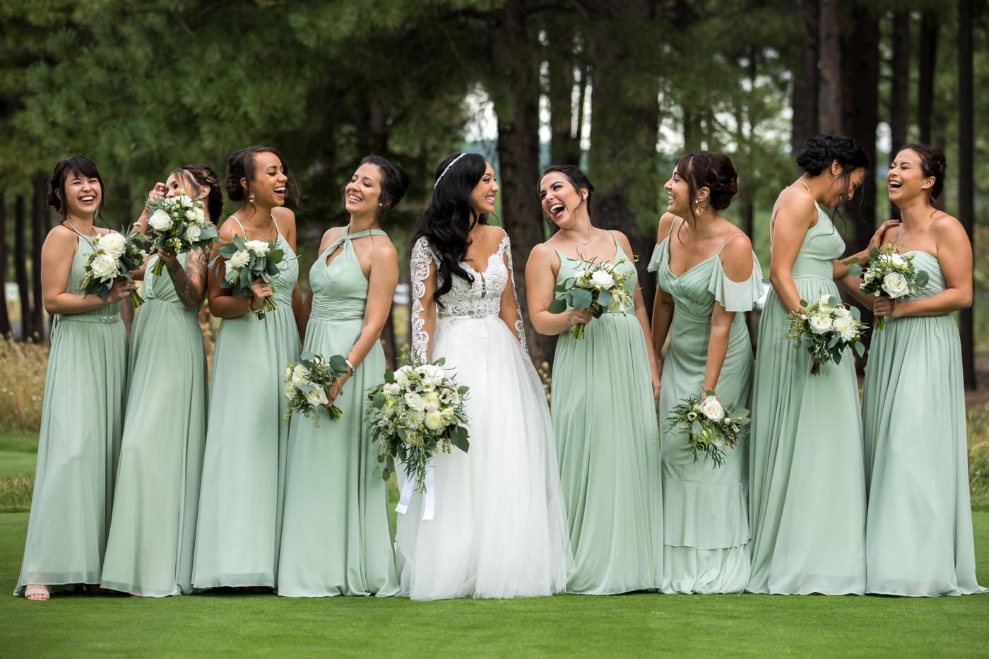 bride and bridesmaid photography 13