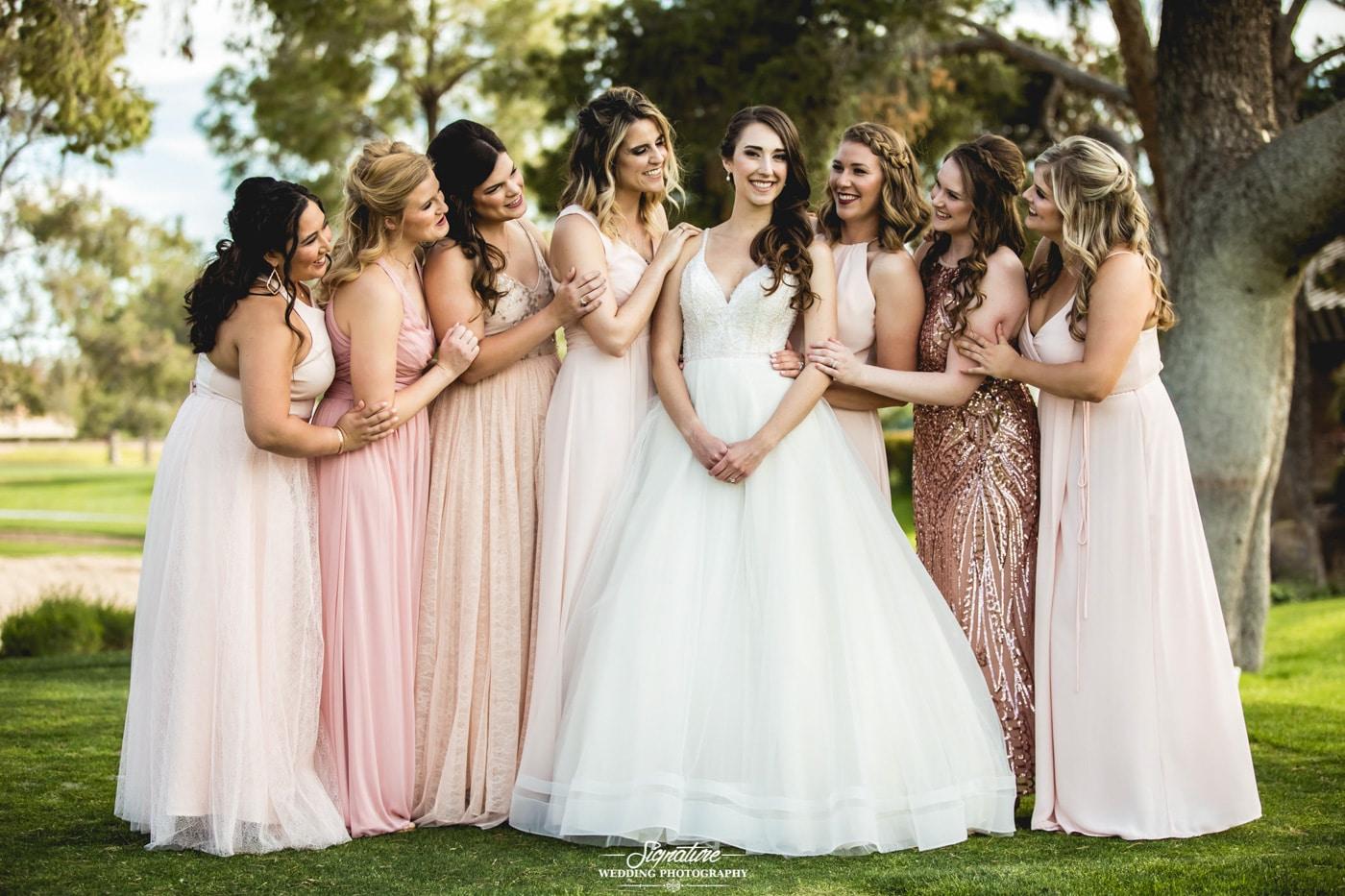bride and bridesmaid photography 15