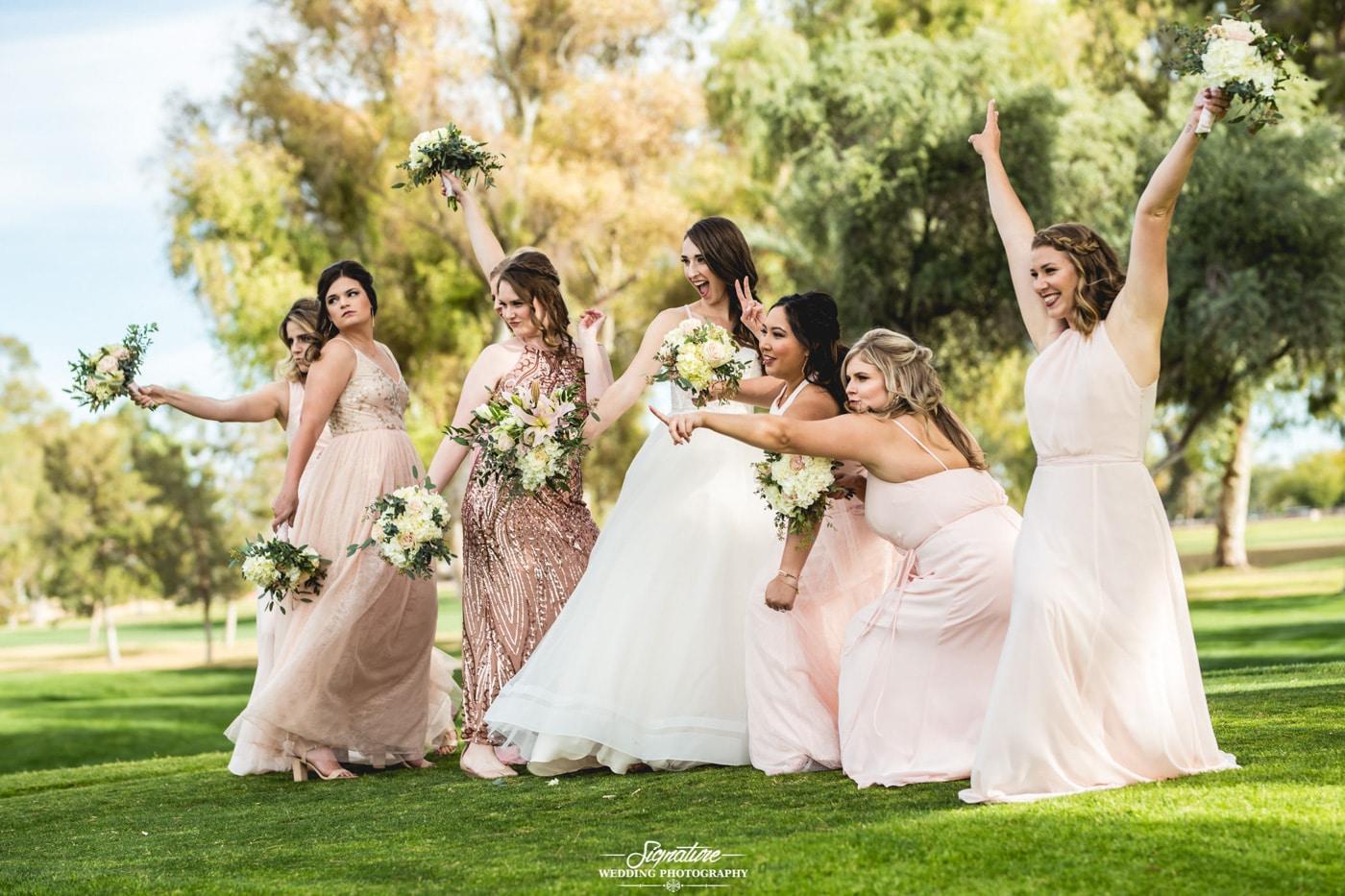 bride and bridesmaid photography 16