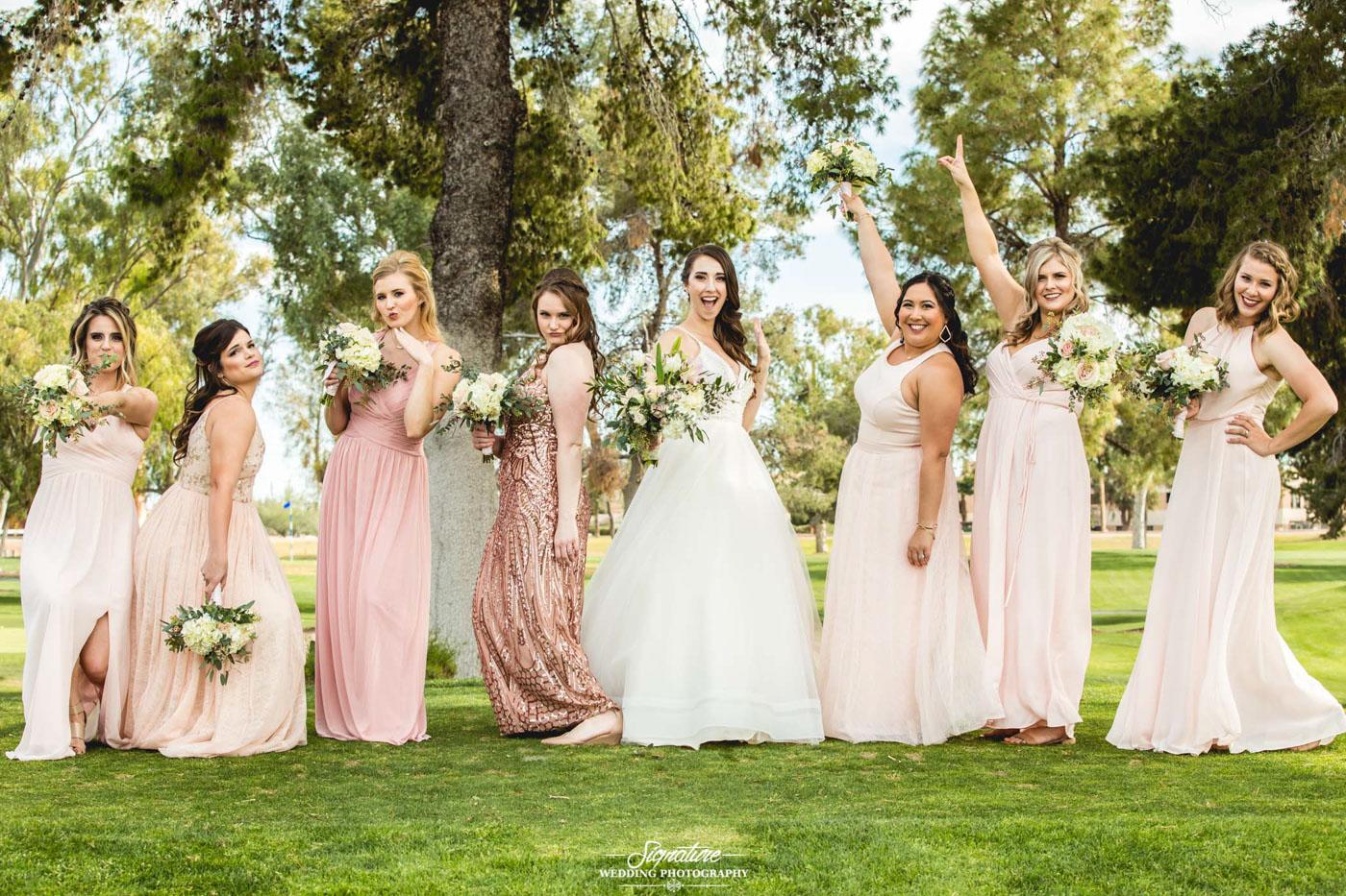 bride and bridesmaid photography 17