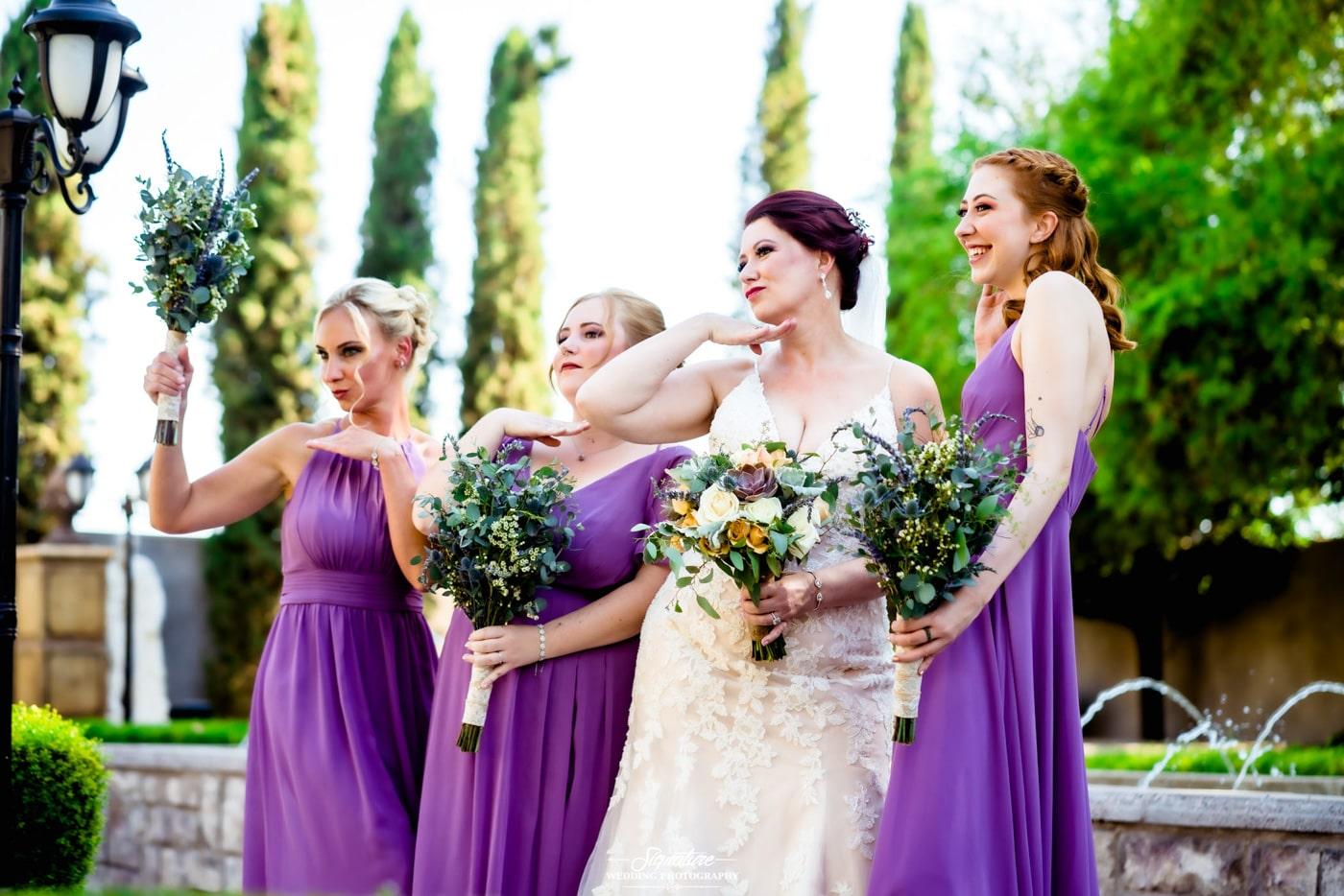 bride and bridesmaid photography 22