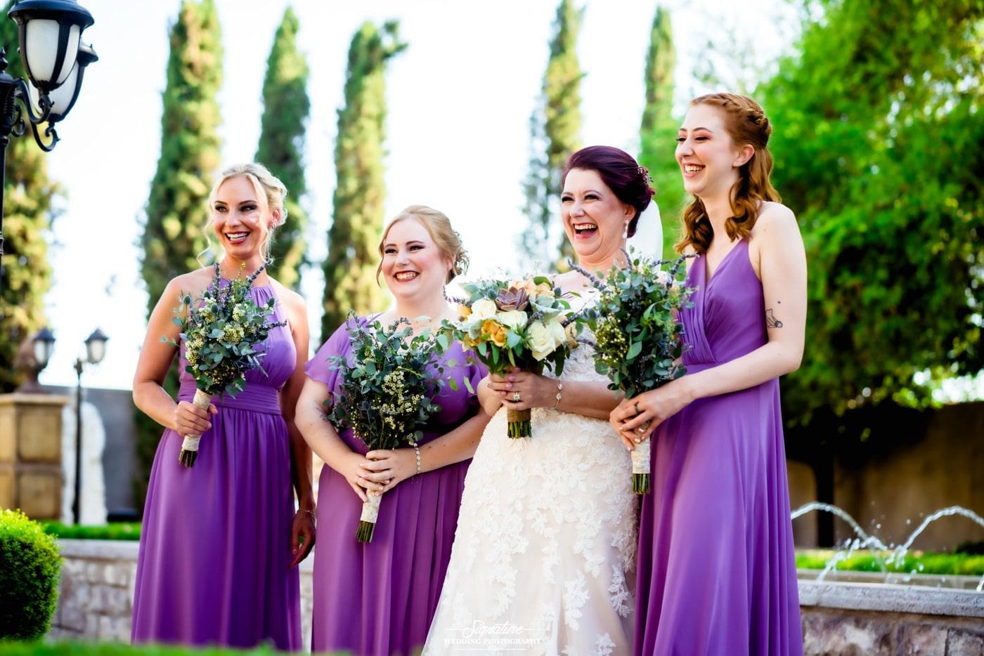 bride and bridesmaid photography 23
